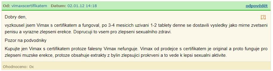vimax názor